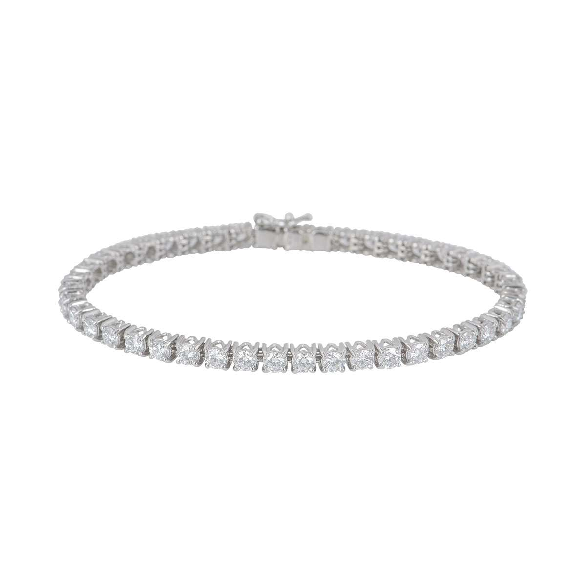 Platinum Diamond Line Bracelet 7.31ct